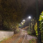 Chemin éclairé